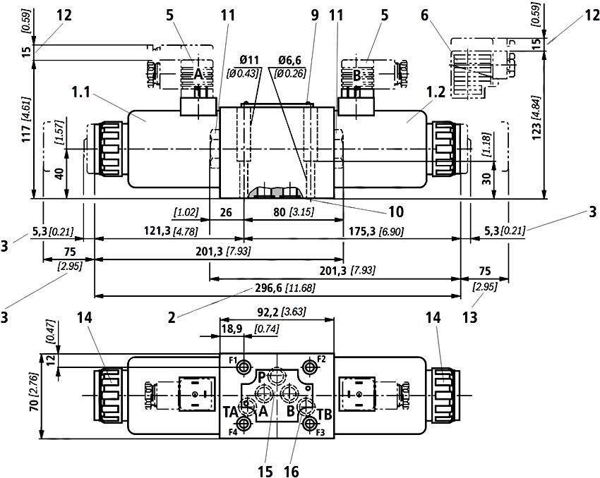 Схема гидрораспределителя ВЕ10